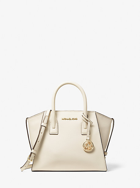 Avril Small Leather Top-Zip Satchel