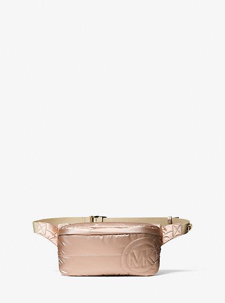 마이클 코어스 래 슬링팩 미디움Michael Kors Rae Medium Quilted Metallic Cotton Blend Sling Pack,ROSE GOLD