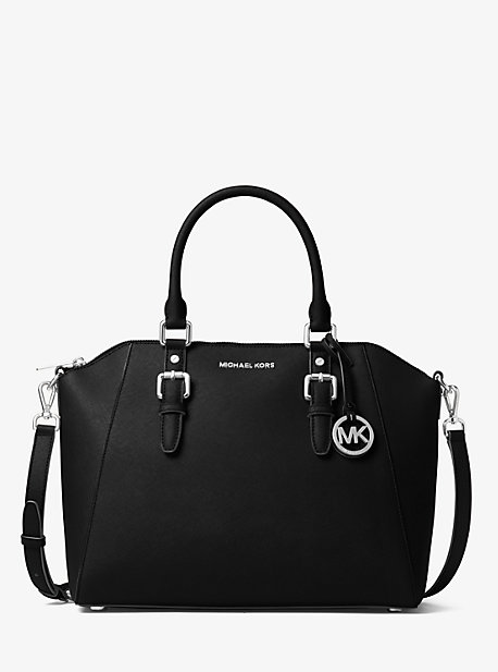 Ciara Large Saffiano Leather Satchel | Michael Kors