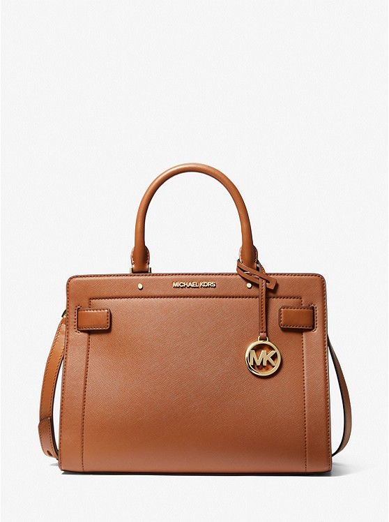MICHAEL KORS : Rayne Medium Saffiano Leather Satchel $99.00