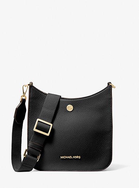 마이클 마이클 코어스 브릴리백 스몰 Michael Michael Kors Briley Small Pebbled Leather Messenger Bag,BLACK