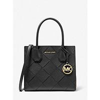 Deals on Michael Michael Kors Mercer Medium Woven Leather Crossbody Bag