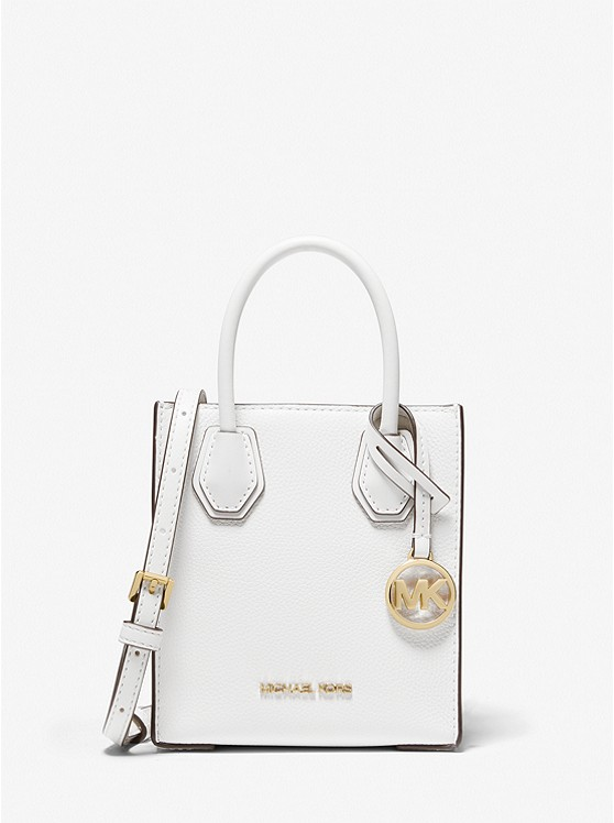 MICHAEL KORS: Mercer Extra-Small Pebbled Leather Crossbody Bag $99.00