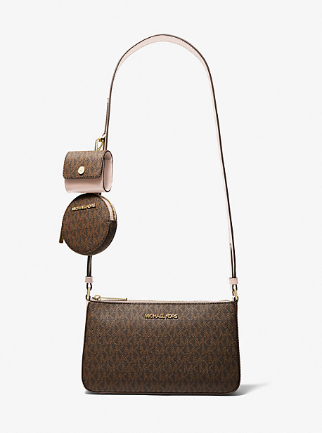 Jet Set Travel Small Logo Shoulder Bag with Pouches