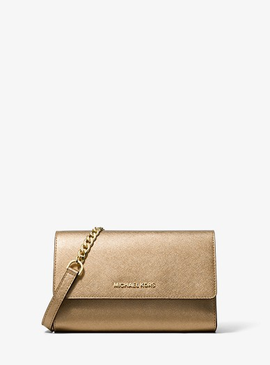 28bbd5af6bbc Metallic Saffiano Leather 3-in-1 Crossbody Bag | Michael Kors