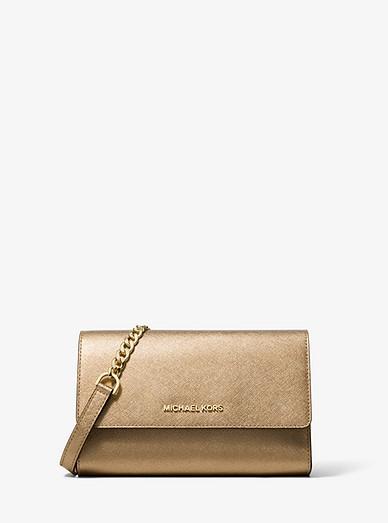 c591d529c3f7 Metallic Saffiano Leather 3-in-1 Crossbody Bag | Michael Kors