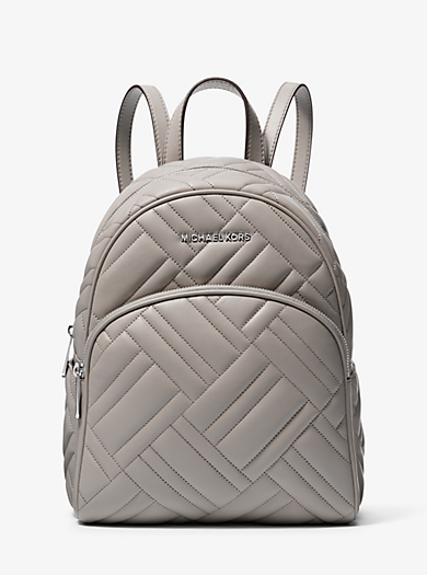 19295e3e7380a4 Abbey Medium Quilted Leather Backpack | Michael Kors