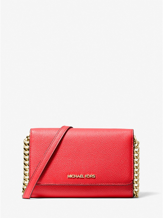 Michael Kors Jet Set Travel Pebbled Leather Convertible Crossbody Bag