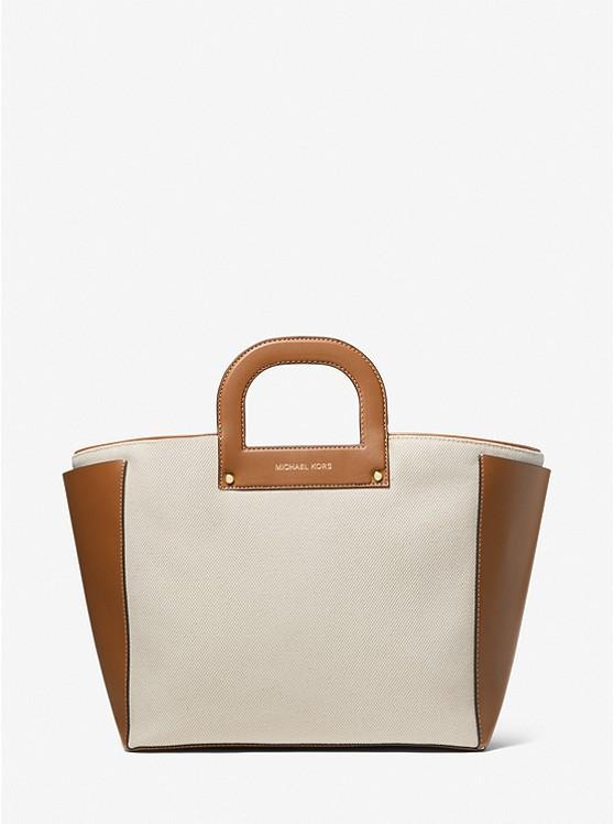 Michael Kors Clara Extra-Large Cotton Tote Bag