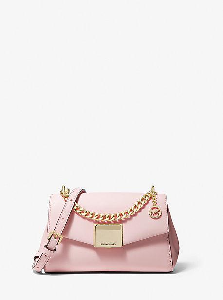 마이클 마이클 코어스 Michael Michael Kors Lita Small Leather Crossbody Bag,POWDER Blush LUSH
