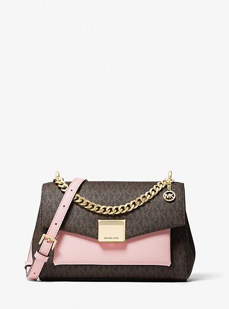 마이클 마이클 코어스 리타백 미디움 Michael Michael Kors Lita Medium Two-Tone Logo Crossbody Bag