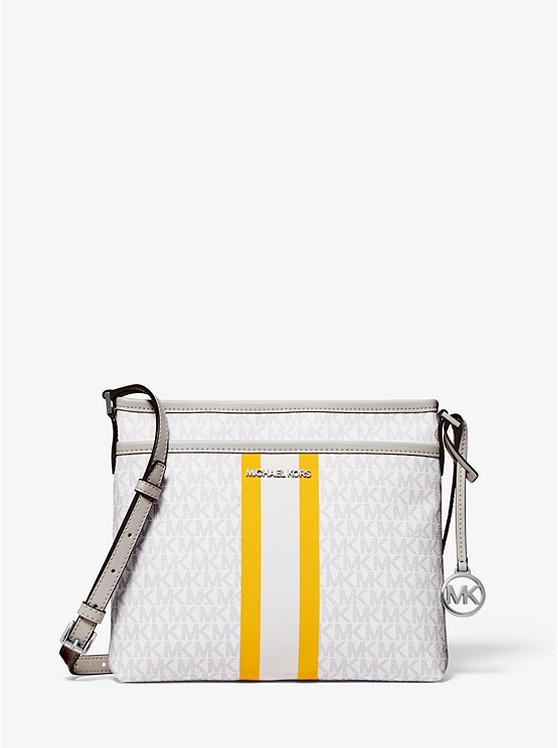 MICHAEL KORS: Bedford Small Logo Stripe Crossbody Bag $69.00
