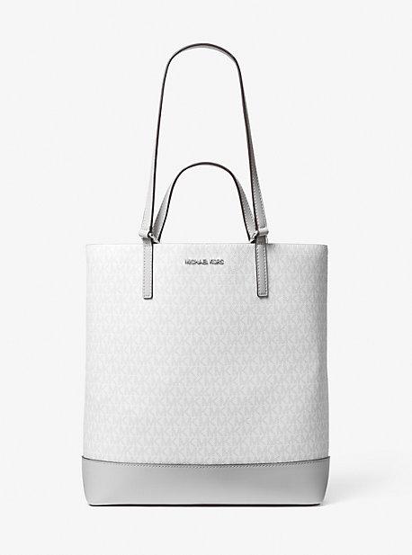 마이클 마이클 코어스 토트백 Michael Michael Kors Kelli Large Two-Tone Logo Tote Bag,ALUMINUM