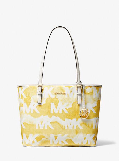 마이클 마이클 코어스 Michael Michael Kors Jet Set Travel Medium Shibori Print Logo Tote Bag