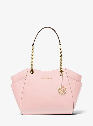 Grand sac porté épaule Jet Set en cuir saffiano