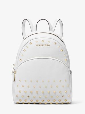 91c736e43810 Abbey Medium Studded Pebbled Leather Backpack | Michael Kors