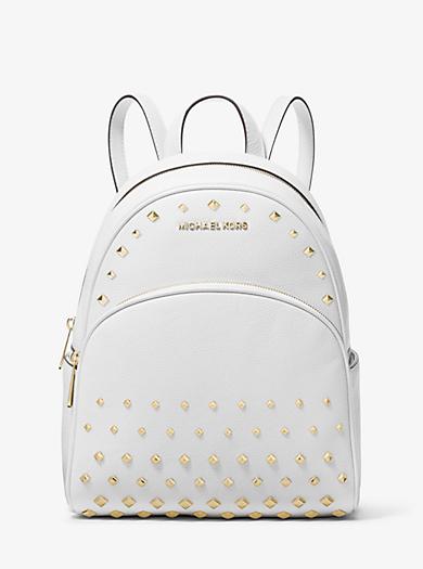 87456029e0b3 Abbey Medium Studded Pebbled Leather Backpack | Michael Kors