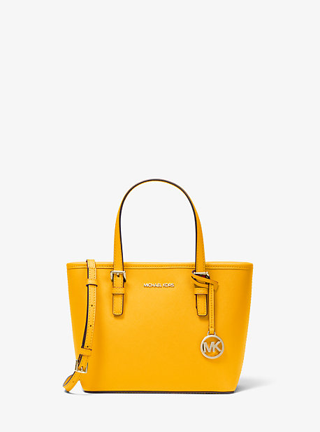 Jet Set Travel Extra-Small Saffiano Leather Top-Zip Tote Bag