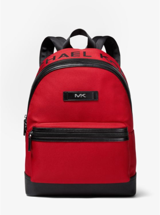 Logo Woven Backpack