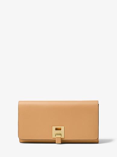 0ee2e241b48dae Bancroft Calf Leather Continental Wallet | Michael Kors