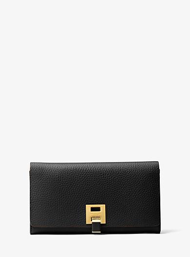 a3789c211624 Bancroft Pebbled Calf Leather Continental Wallet · michael kors ...