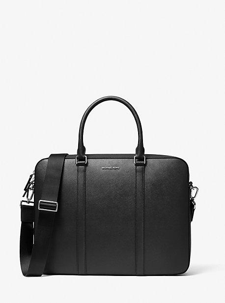 마이클 코어스 맨 서류가방 Michael Kors Harrison Crossgrain Leather Briefcase