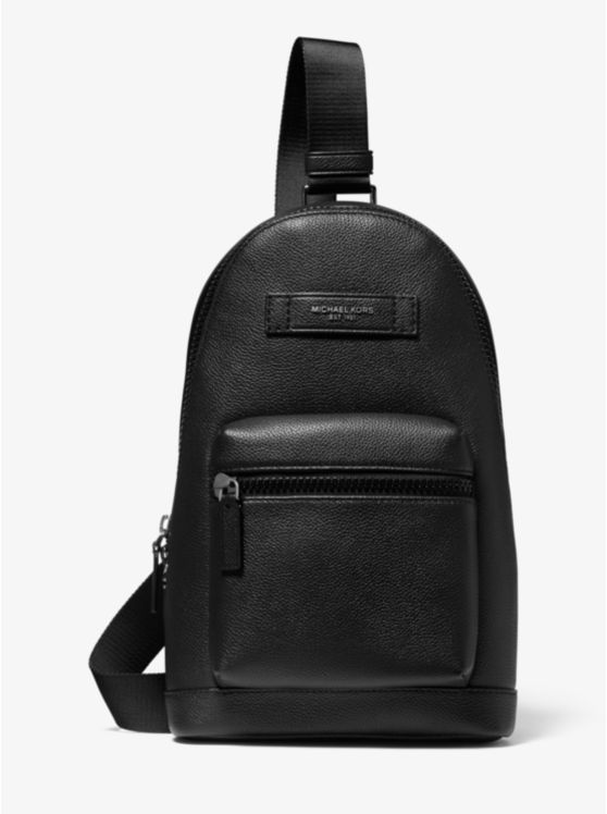 Pebbled Leather Sling Pack