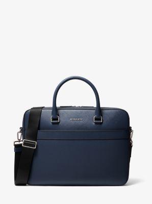 마이클 코어스 해리슨 사피아노 서류가방 Michael Kors Harrison Saffiano Leather Front-Zip Briefcase