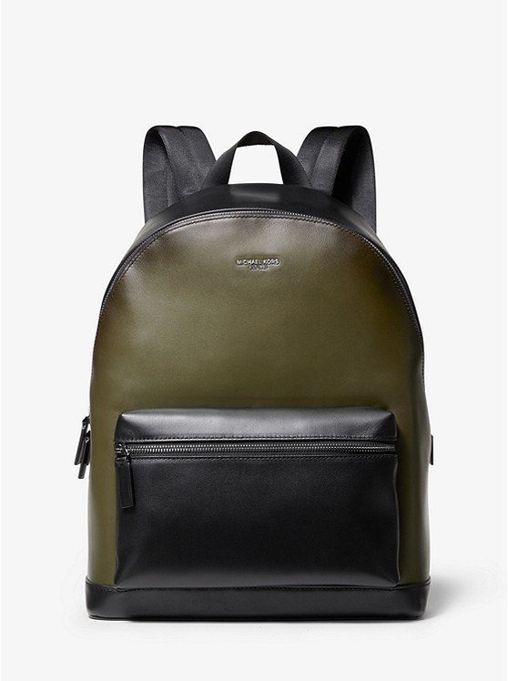 Harrison Burnished Leather Backpack by Michael Kors Mens