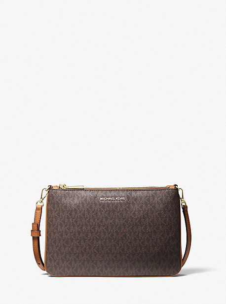 Large Logo Double-Pouch Crossbody Bag