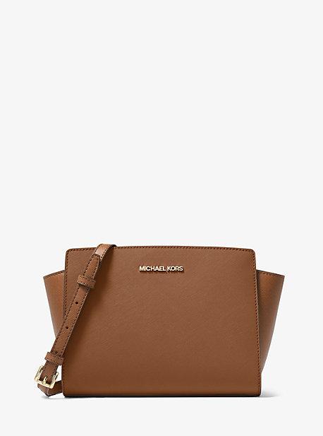 Selma Medium Saffiano Leather Crossbody Bag
