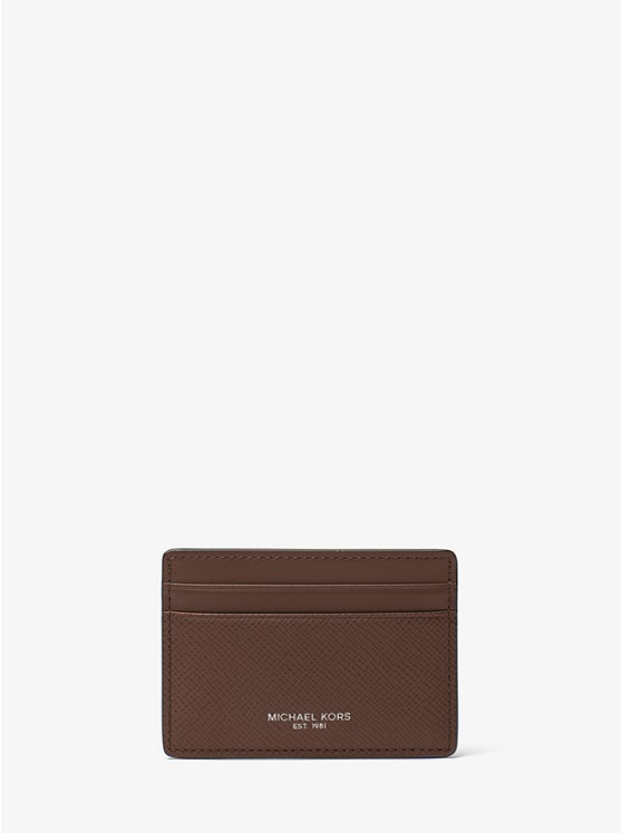 porte carte michael kors Harrison Leather Card Case | Michael Kors