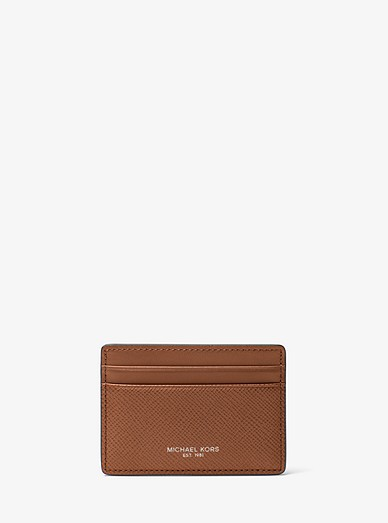 7dbd7c9c5744 Harrison Leather Card Case | Michael Kors
