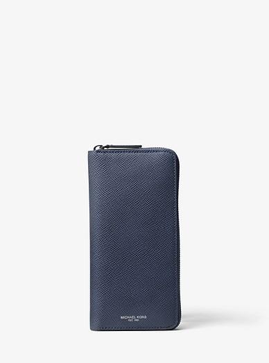 1b8276509029 Harrison Leather Zip-around Wallet | Michael Kors