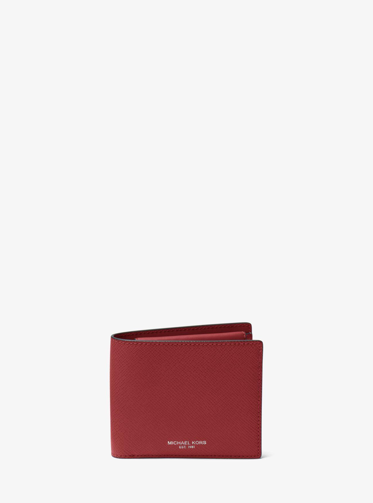 6cf5ca0c0b18 Harrison Crossgrain Leather Billfold Wallet With Coin Pocket Harrison  Crossgrain Leather Billfold Wallet With Coin Pocket. Michael Kors Mens