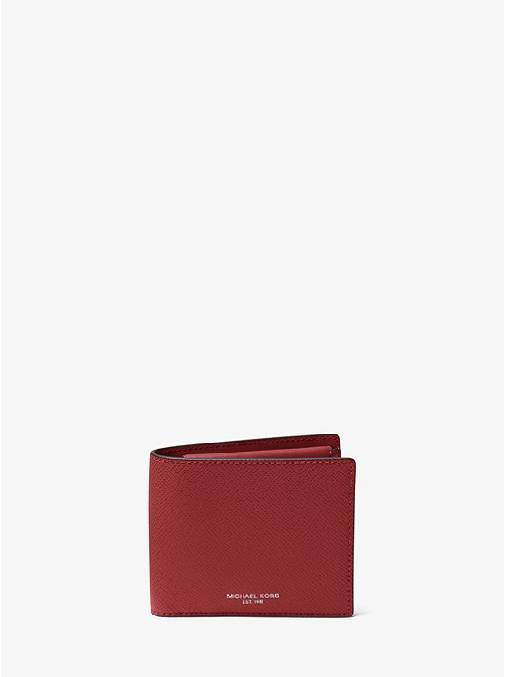fd6ff0972a16 Harrison Crossgrain Leather Billfold Wallet With Coin Pocket | Michael Kors