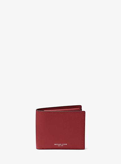 f7e5046ec281 Harrison Crossgrain Leather Billfold Wallet With Coin Pocket · michael kors  mens ...