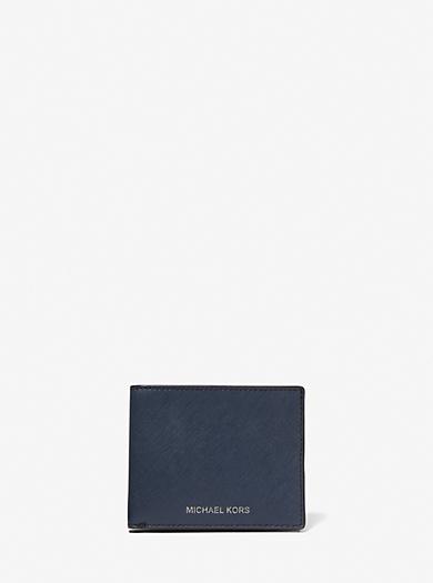 Portefeuille porte-cartes Harrison fin en cuir. michael kors mens ·  Portefeuille ... ea84c4cd82b