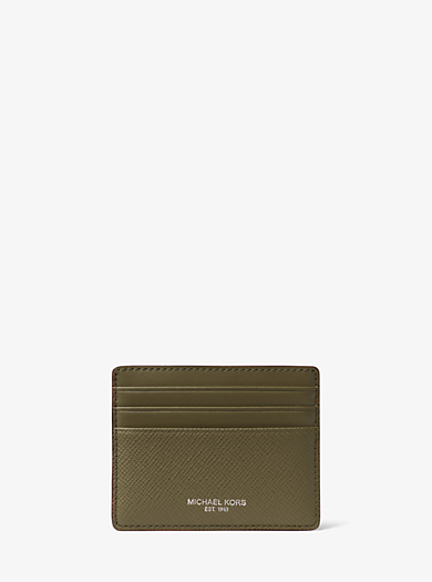 1106ee1228 Harrison Leather Tall Card Case