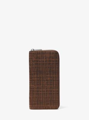 c1bab9be7be4 Harrison Crosshatch Leather Zip-Around Wallet | Michael Kors
