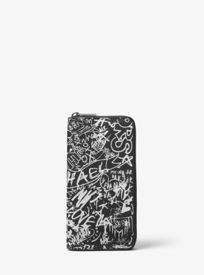 c14b93d4243c81 Jet Set Graffiti Zip-around Wallet | Michael Kors