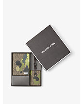 Painterly Camo Passport Case and Luggage Tag Set