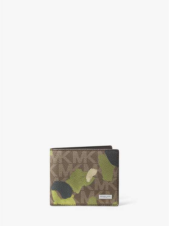 Jet Set Painterly Camo Billfold Wallet