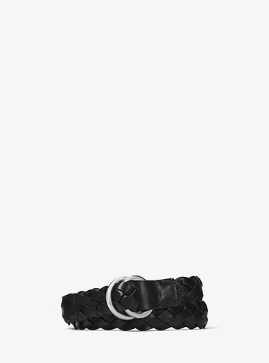 Braided Leather Belt Michael Kors Mens