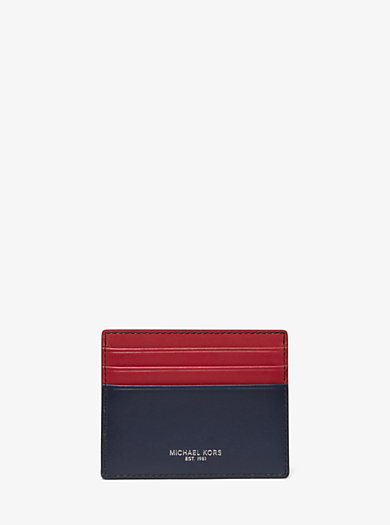 87e9641a286ade Odin Tall Leather Card Case · michael kors ...