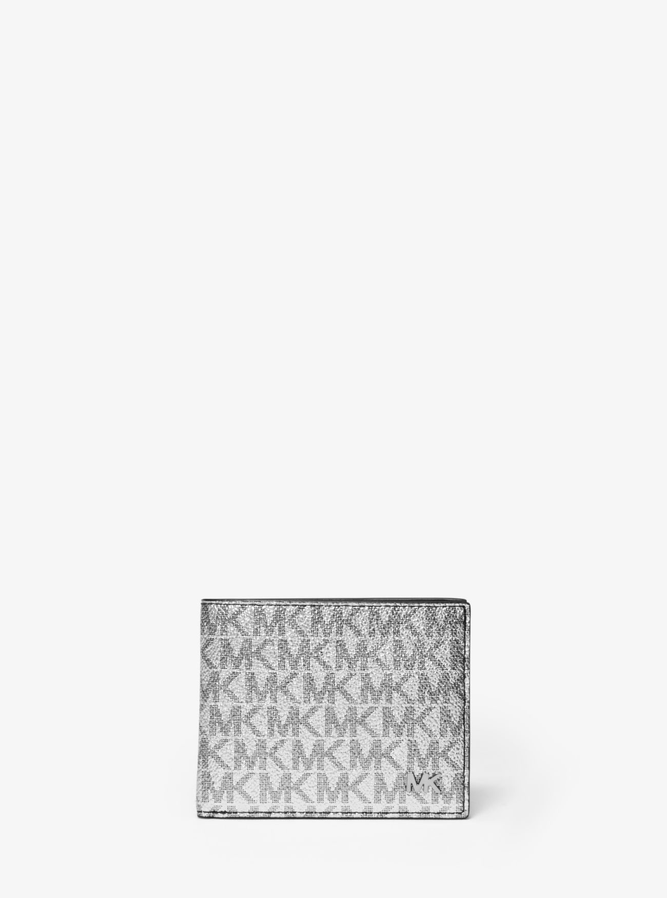 f054f2371add Metallic Logo Slim Billfold Wallet | Michael Kors