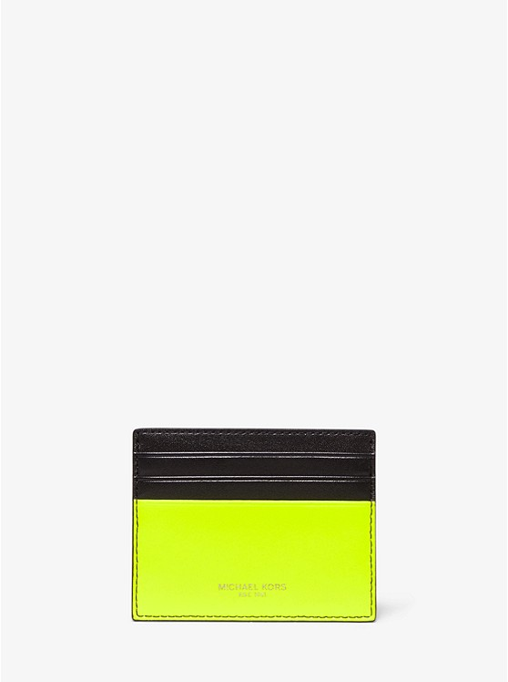 Henry Neon Leather Card Case by Michael Kors Mens