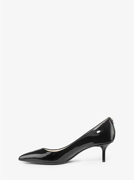 Flex Patent-leather Kitten-heel Pump | Michael Kors