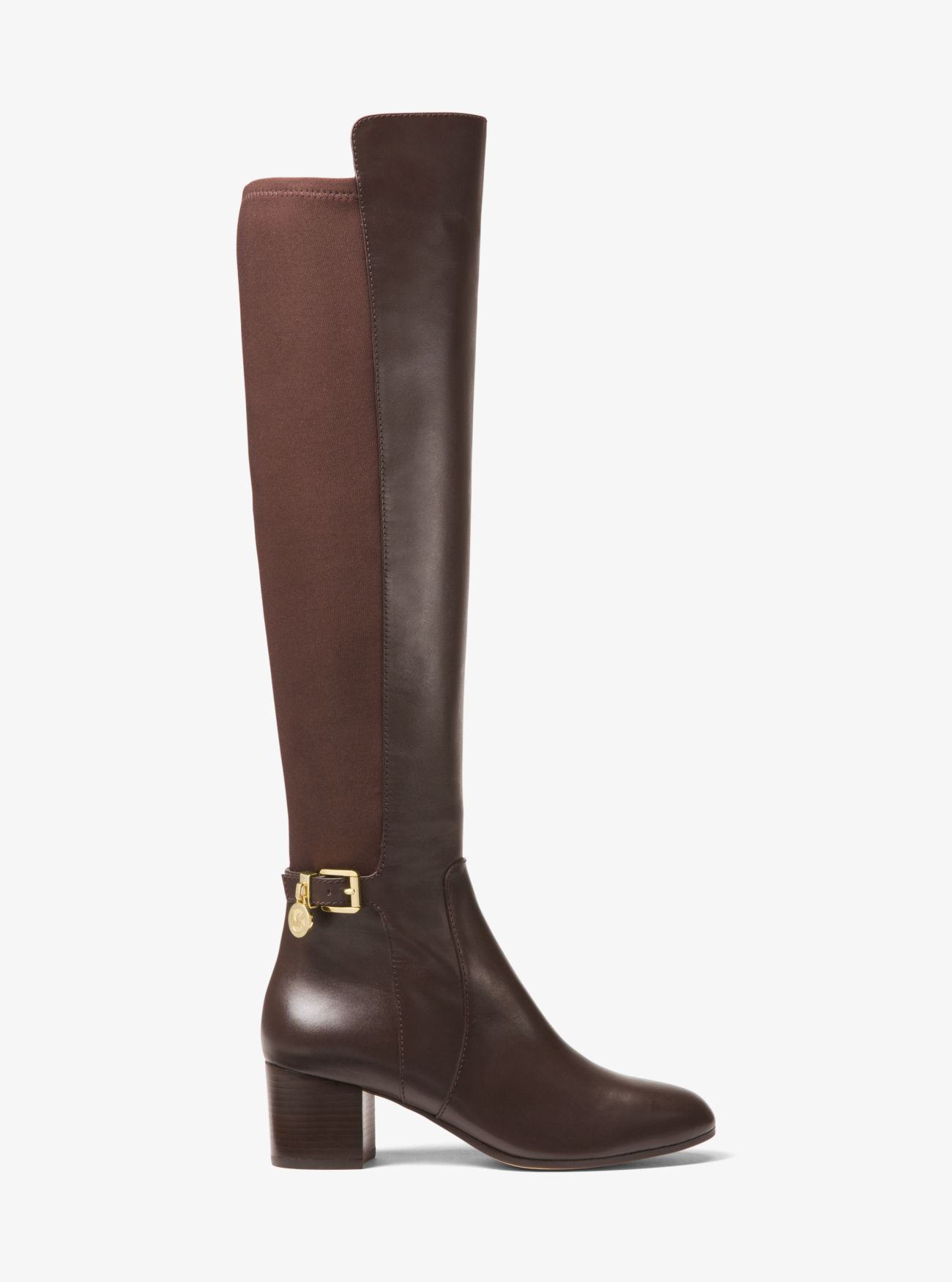Aileen Leather Boot   Michael Kors
