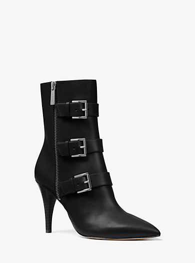 QUICKVIEW. michael michael kors �� Lori Leather Mid-Calf Boot �� Was  $225.00$225.00